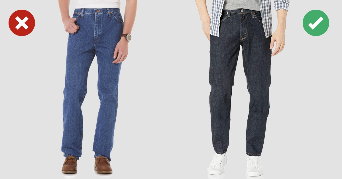 examples of denim jean style no and yes