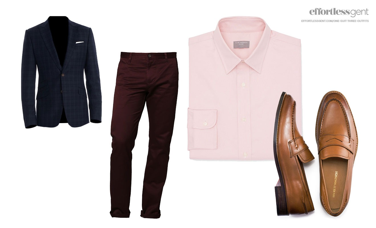 How to wear navy dress blue pants