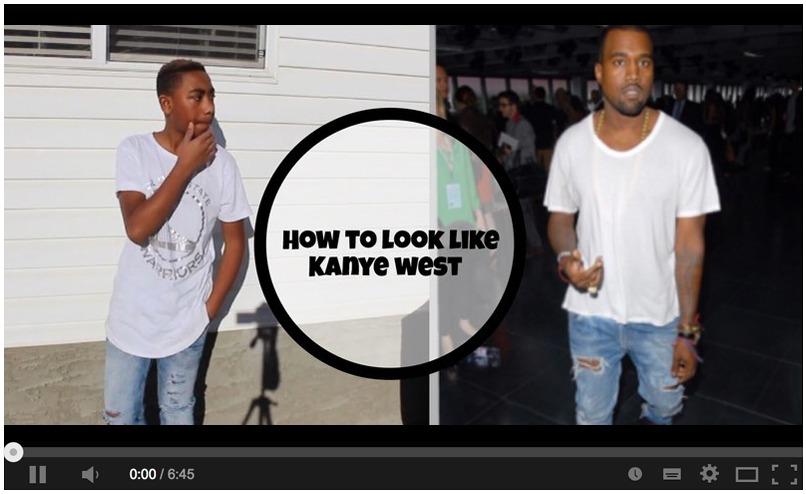 screenshot of youtube video how to look like kanye west