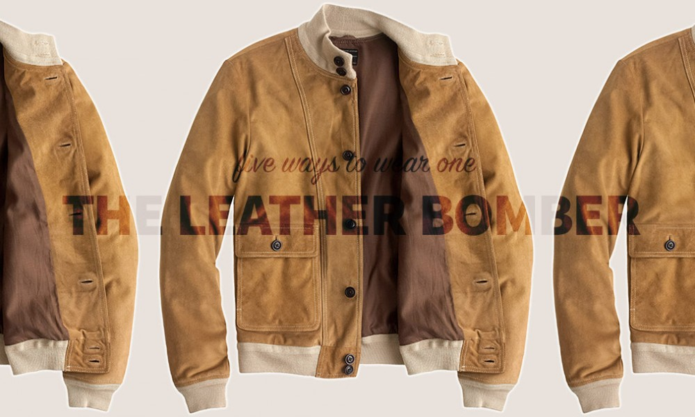 five ways to wear one: the leather bomber