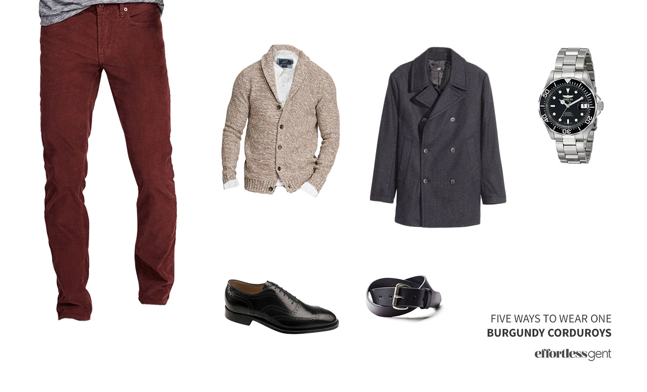 Five Ways To Wear On: Burgundy Corduroys