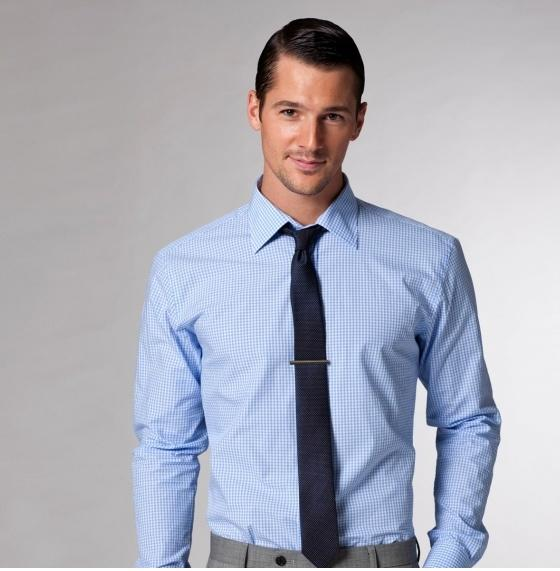 Blue Shirt with Navy Tie. Image Courtesy of www.pinterest.com