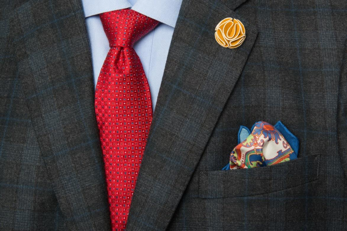 The Dark Knot's Stafford Squares Red tie helps to create a sense of authority and power