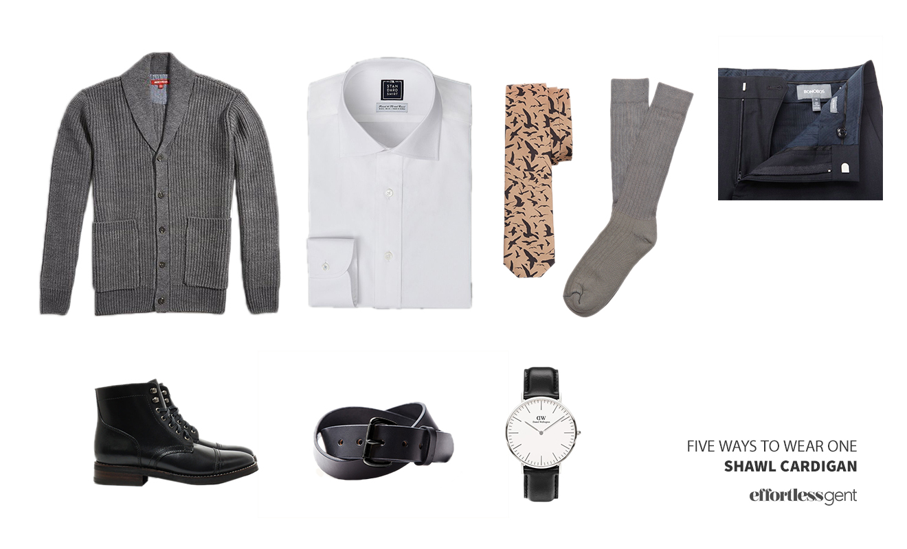 Five Ways To Wear One: The Shawl Collar Cardigan ...