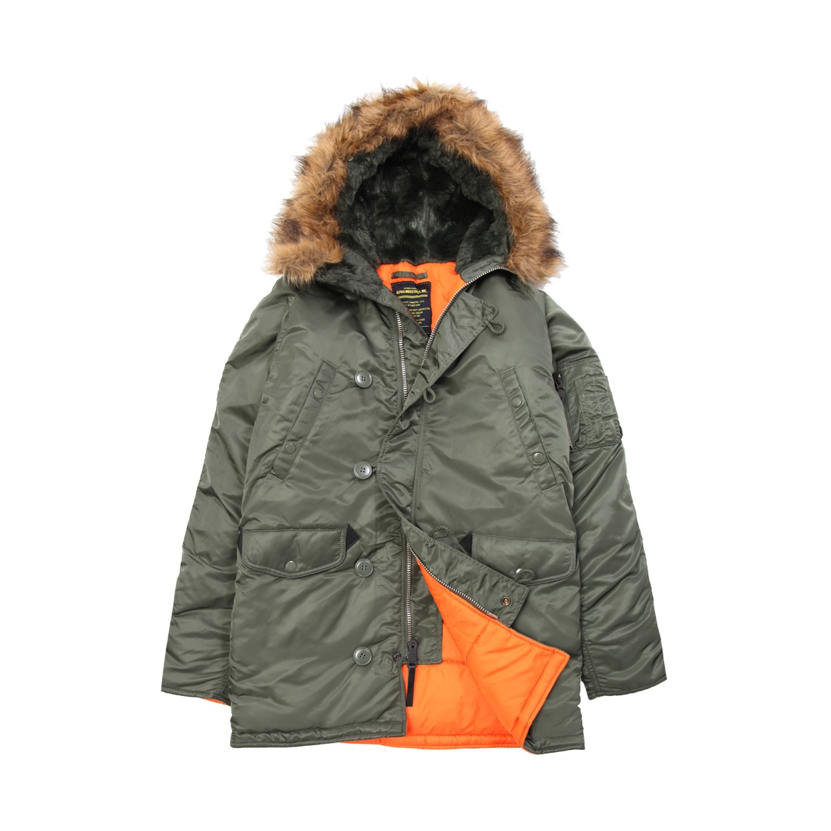 alpha industries N3B parka on effortless gent