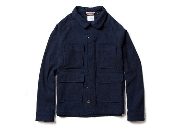 Apolis Indigo Chore Jacket on Effortless Gent
