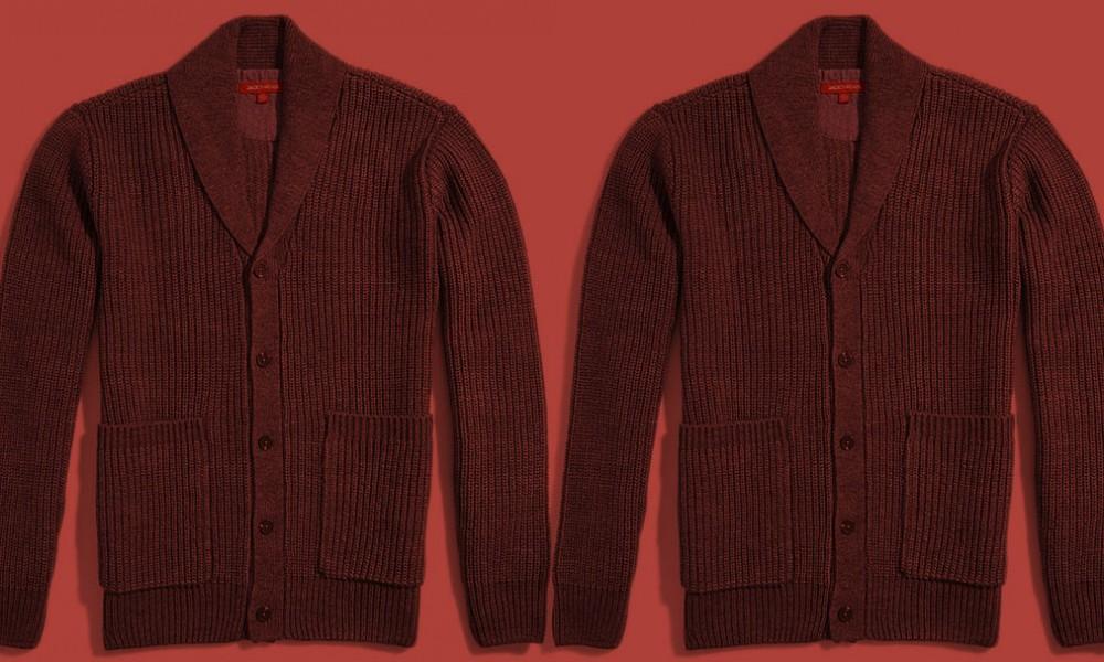 five ways to wear one: the shawl collar cardigan