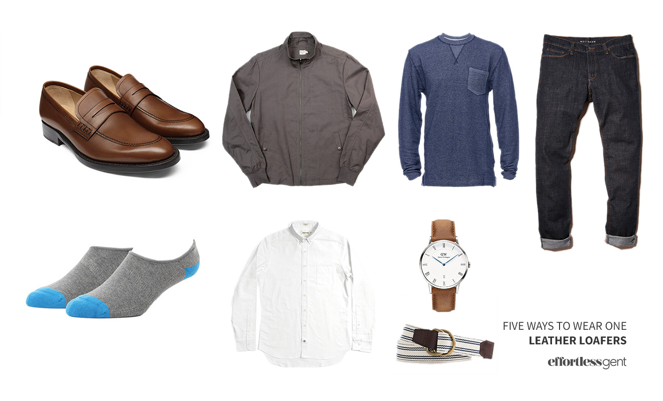 Five Ways to Wear One: Leather Loafers