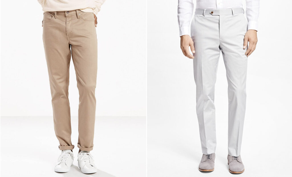 formal vs casual chinos - effortlessgent