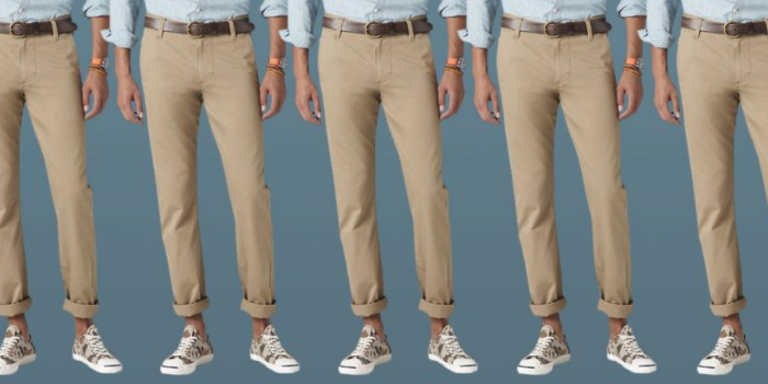five ways to wear tan khaki chinos