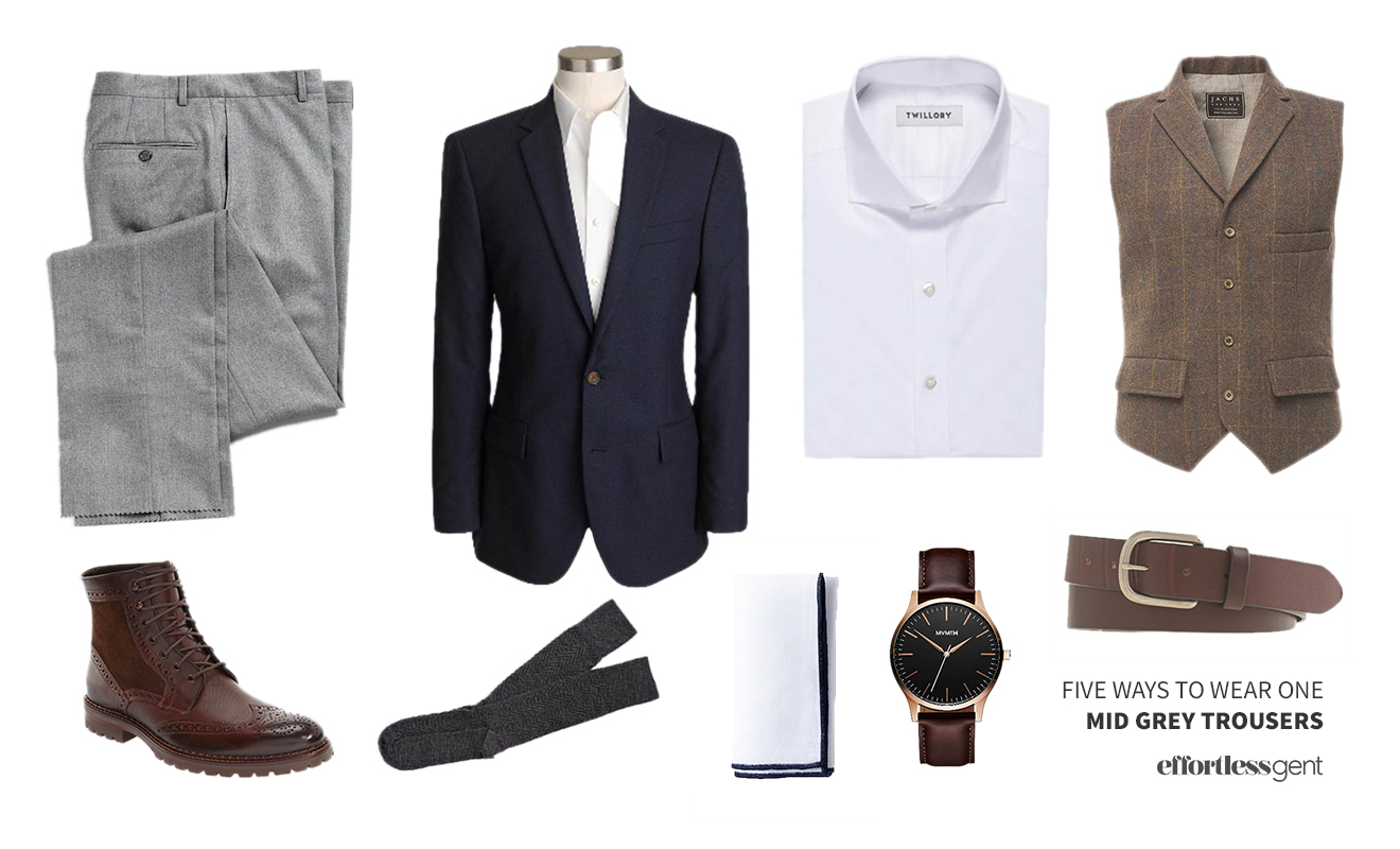 Five Ways to Wear It: Mid-Grey Trousers