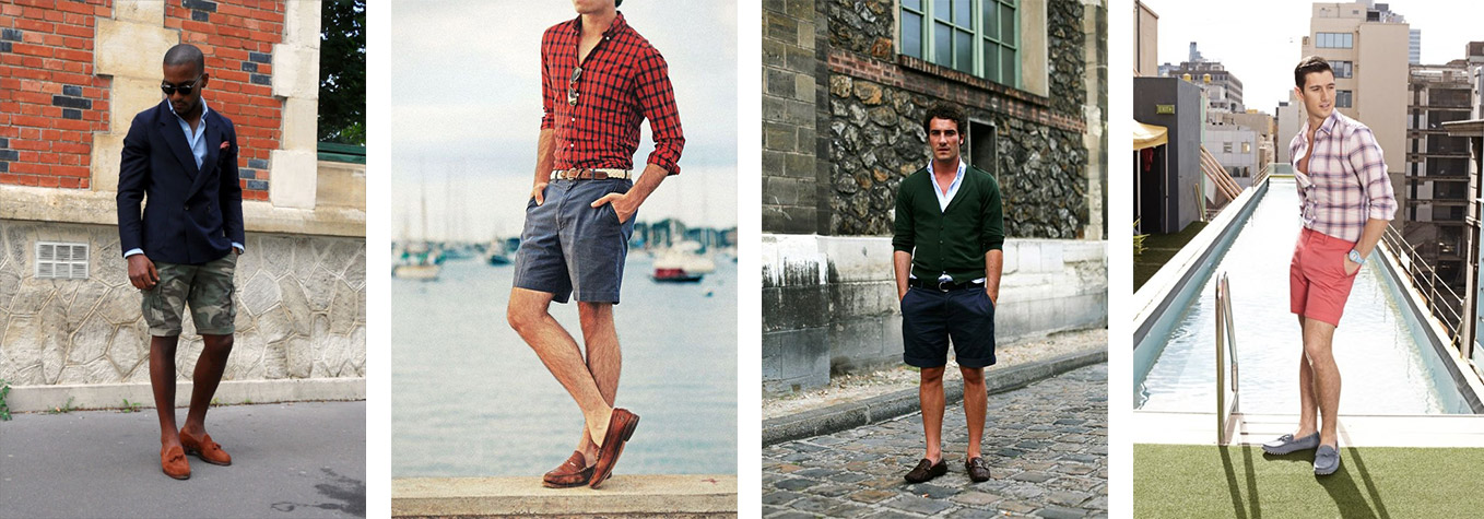 loafers or drivers with shorts