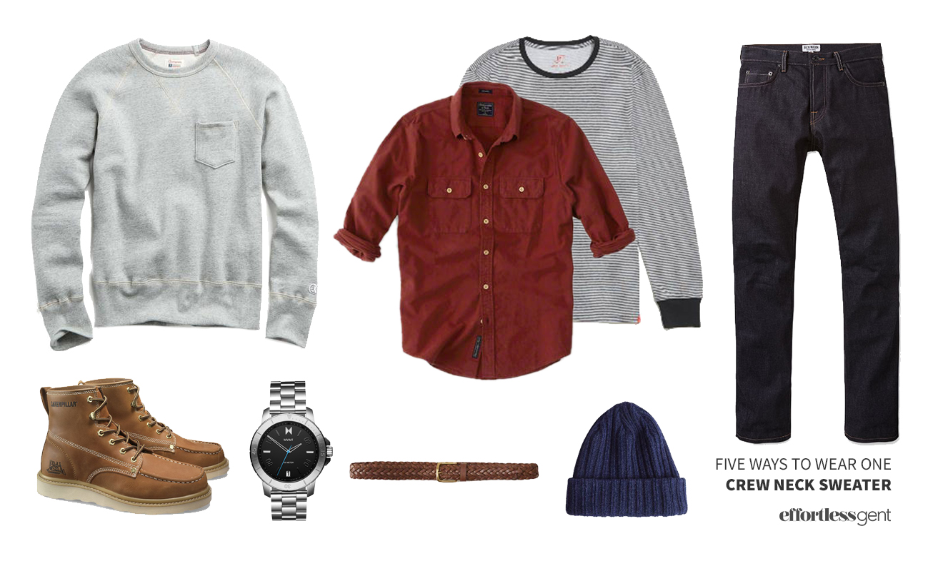 Five Ways to Wear One: Crewneck Sweatshirt