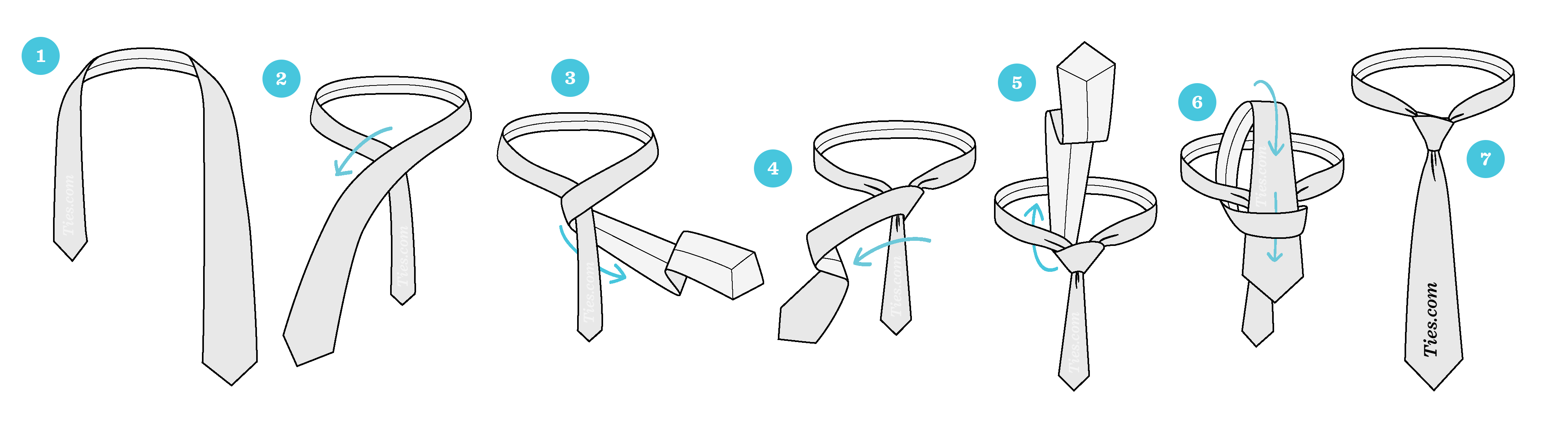 four-in-hand graphic from ties.com
