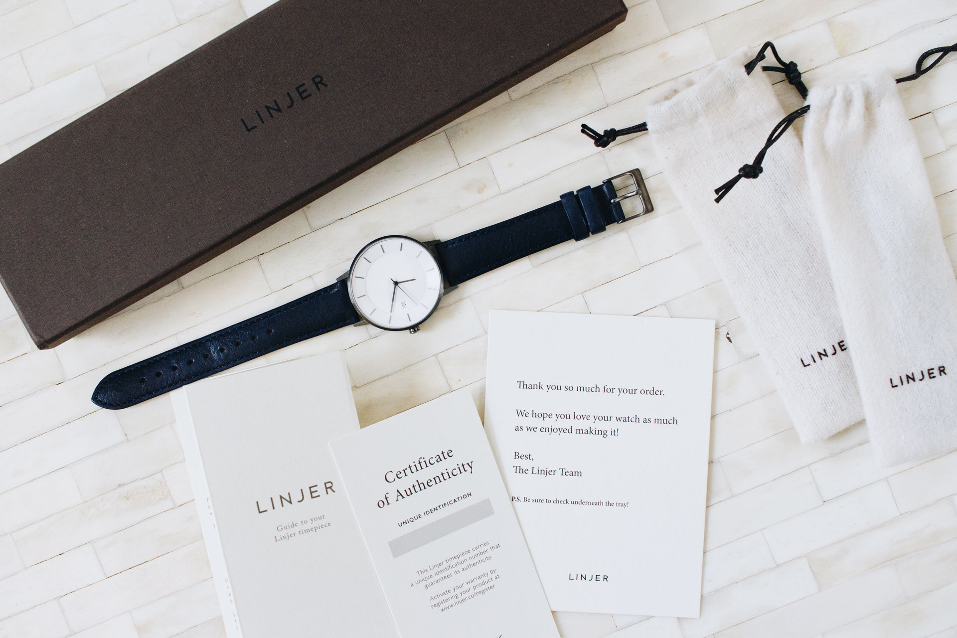 Linjer Classic Watch Blue Strap