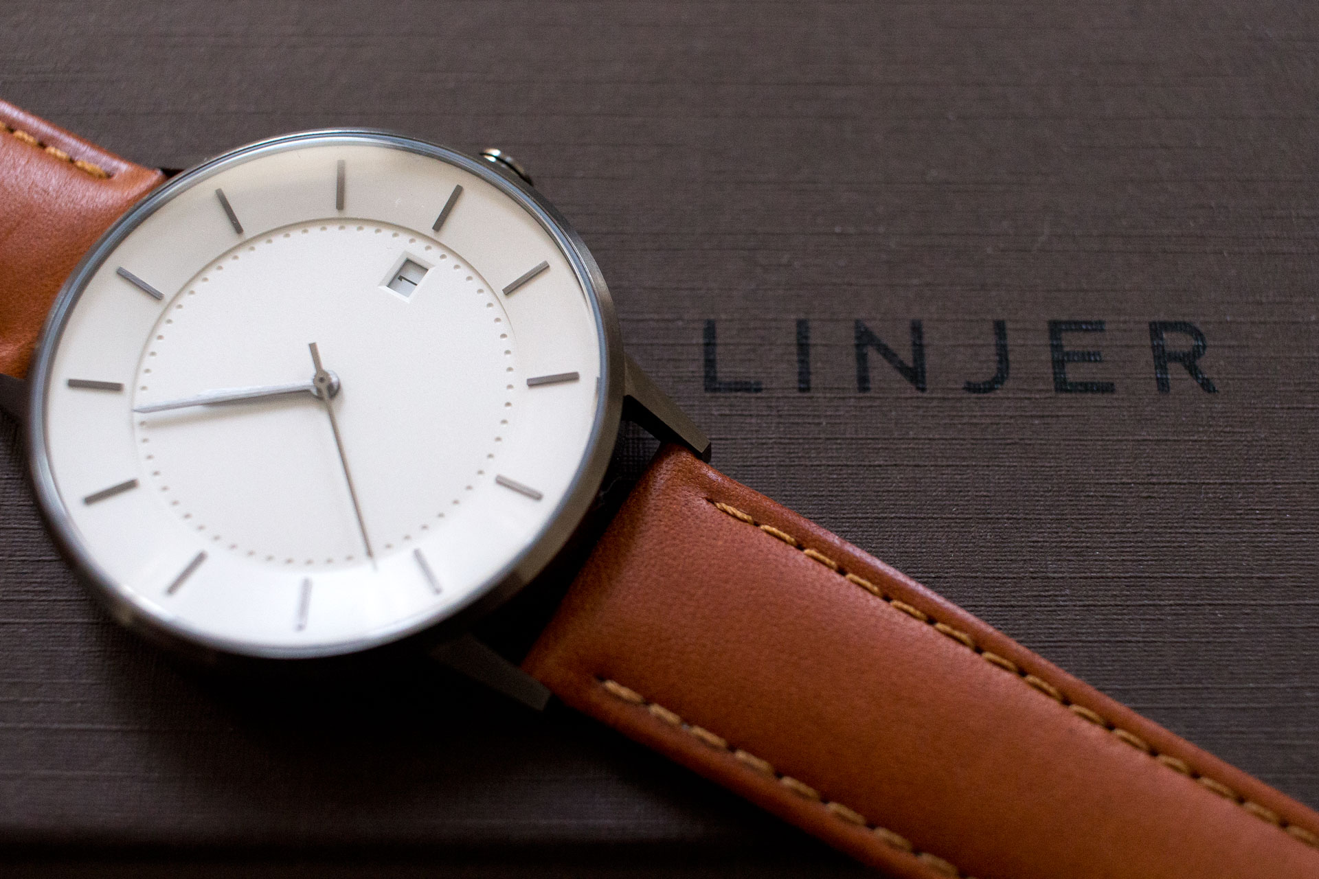 Linjer Classic Watch Tan Strap