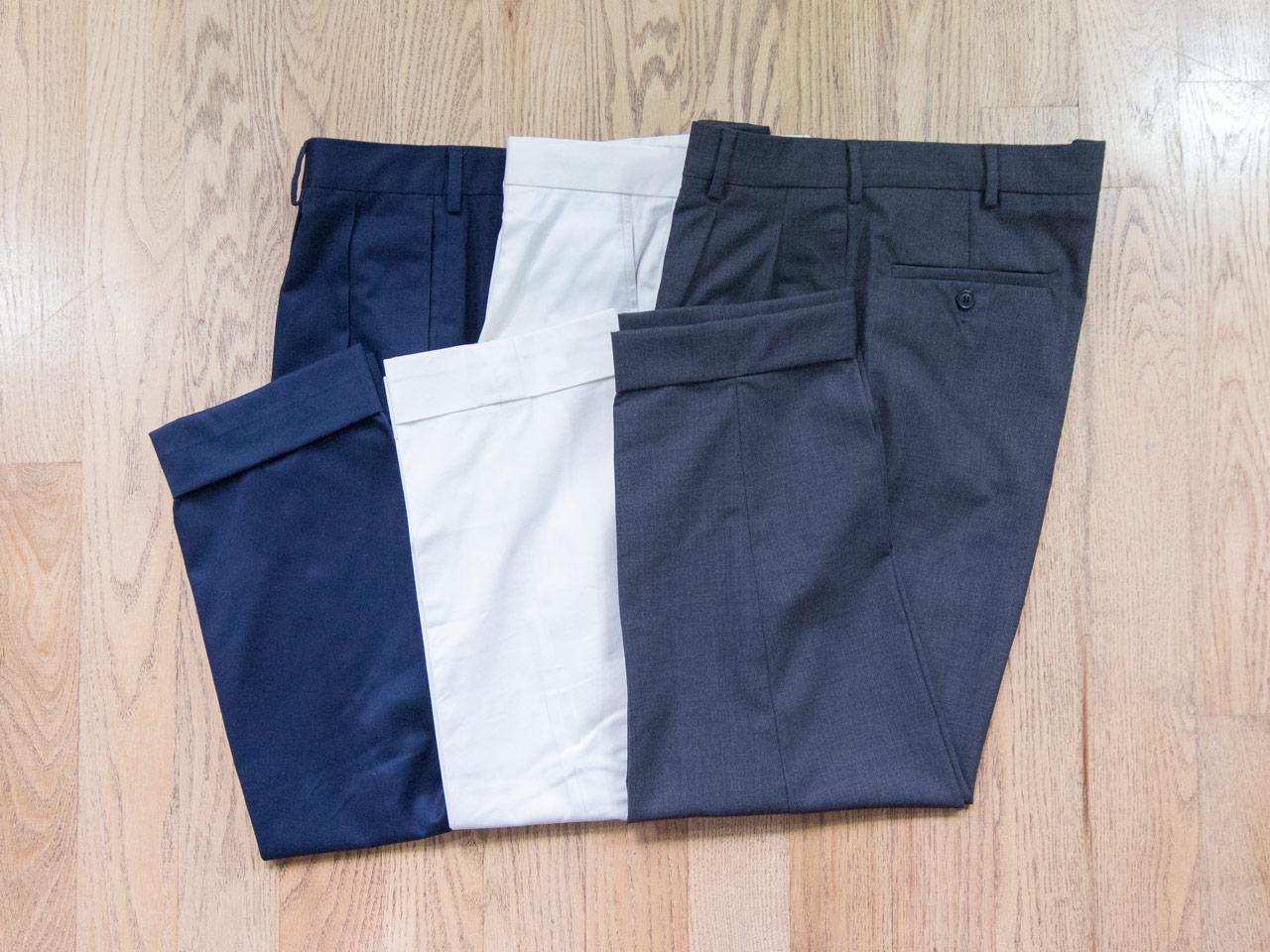 effortless essentials minimalist wardrobe - trousers dress chinos