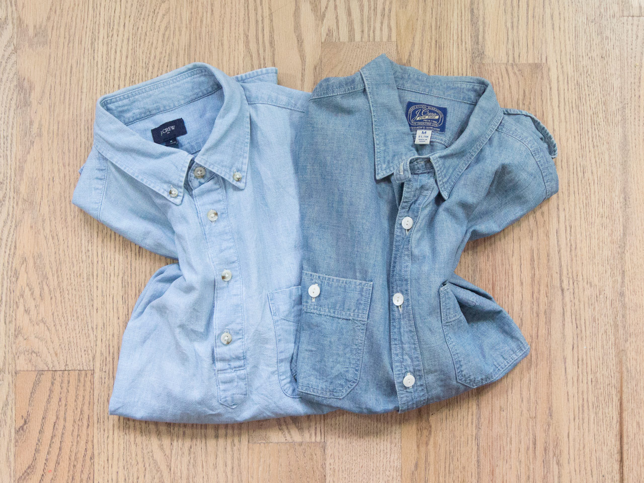 effortless essentials minimalist wardrobe - chambray shirts