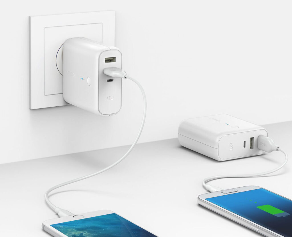 Anker 2-in-1 Portable Wall Charger