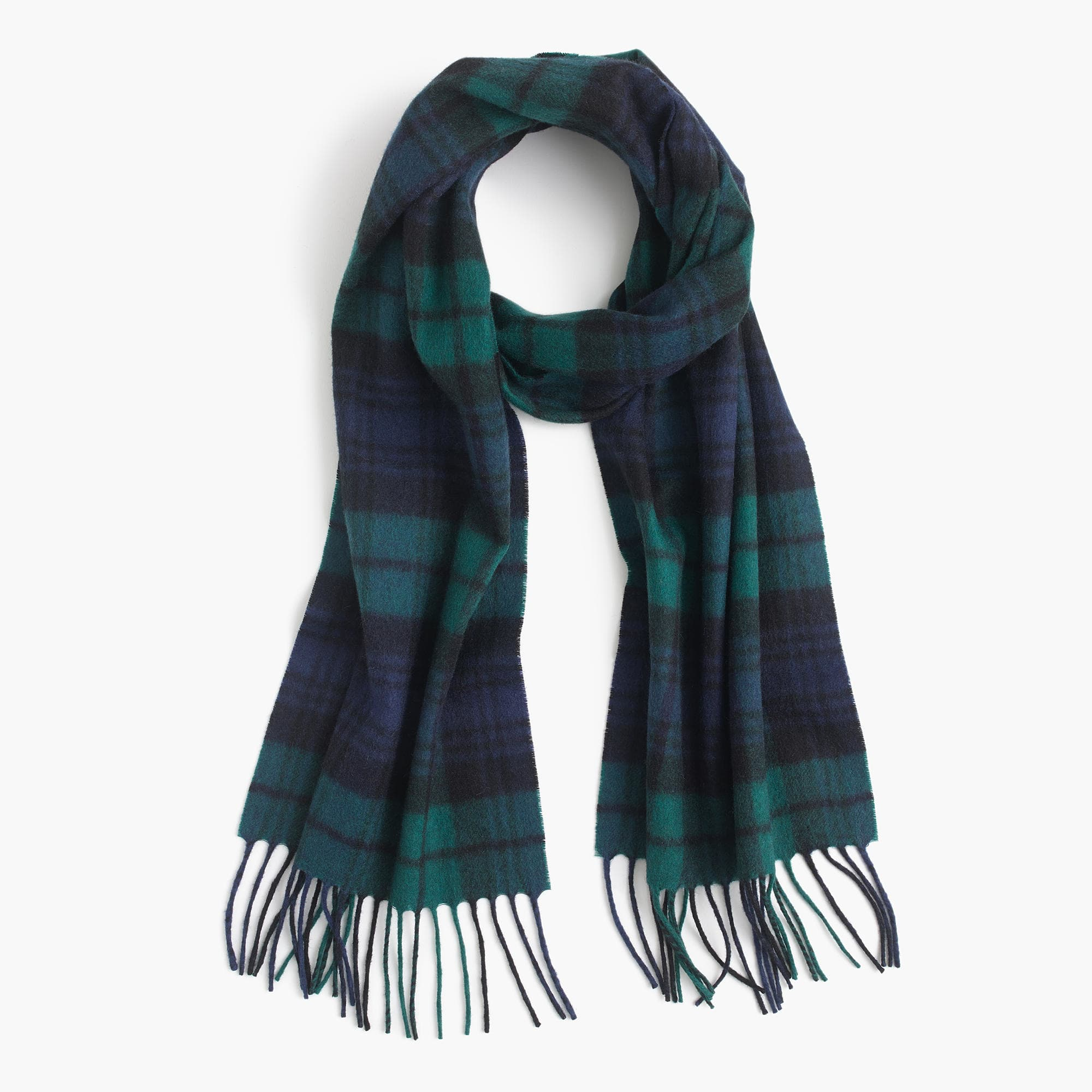cashmere blackwatch scarf