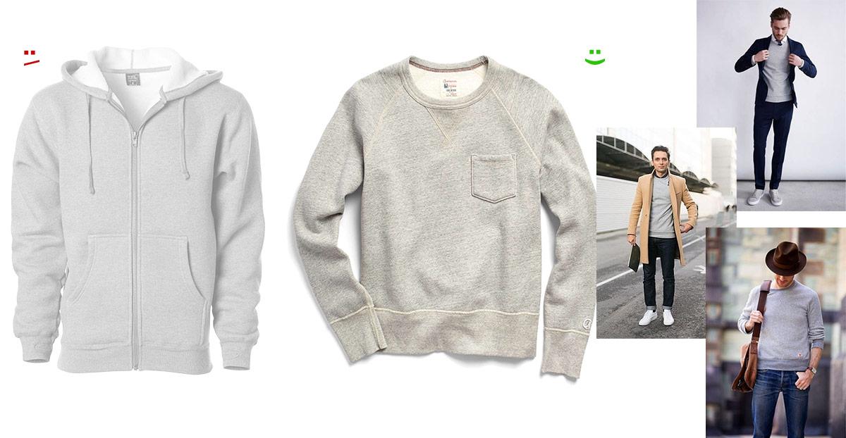 hoodie vs crewneck sweatshirt - effortlessgent