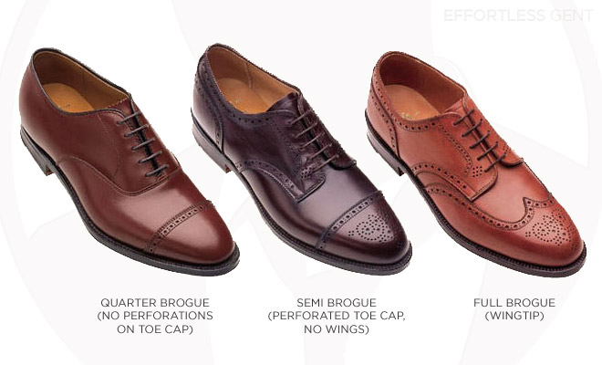 Brogue Styles in Brown Dress Shoes