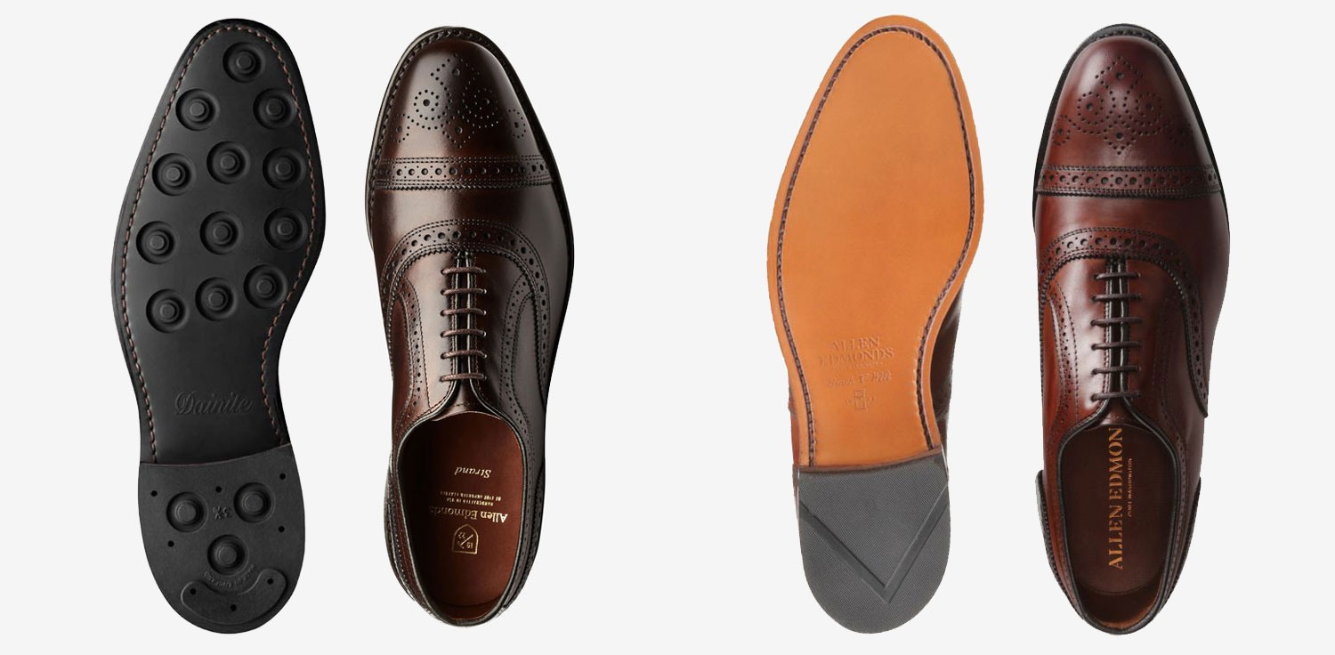 dainite vs leather sole allen edmonds