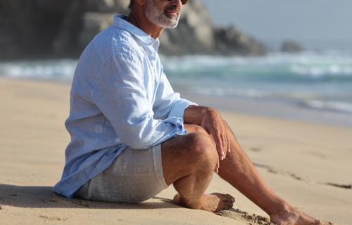 photo of gent on beach
