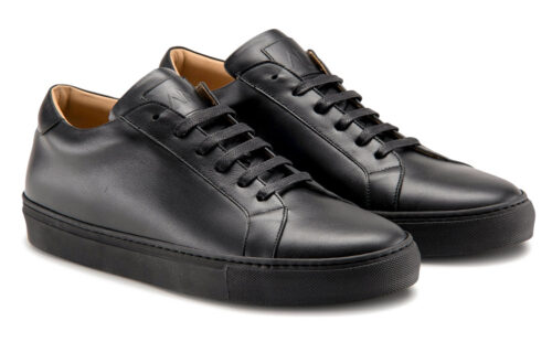Ace Marks Duke Dress Sneakers in Black