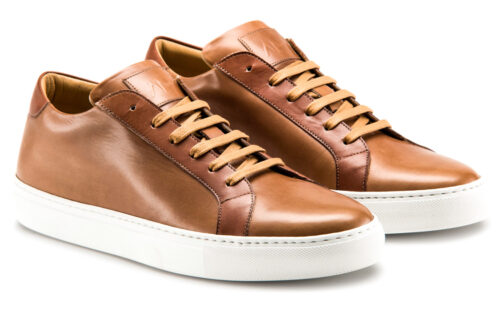 Ace Marks Duke Dress Sneakers in Brown