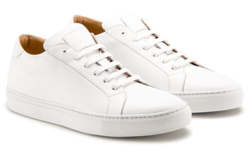 Ace Marks Duke Dress Sneakers in White
