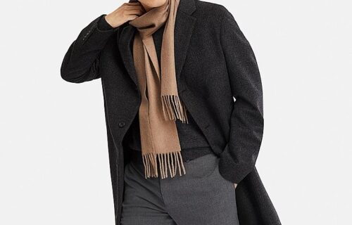 Uniqlo Wool Cashmere Chesterfield Coat