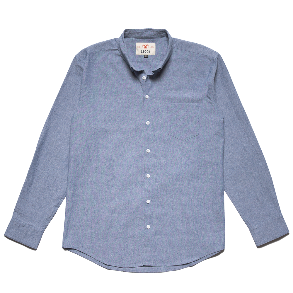 Stock Mfg. Co. Blue Service Chambray Shirt