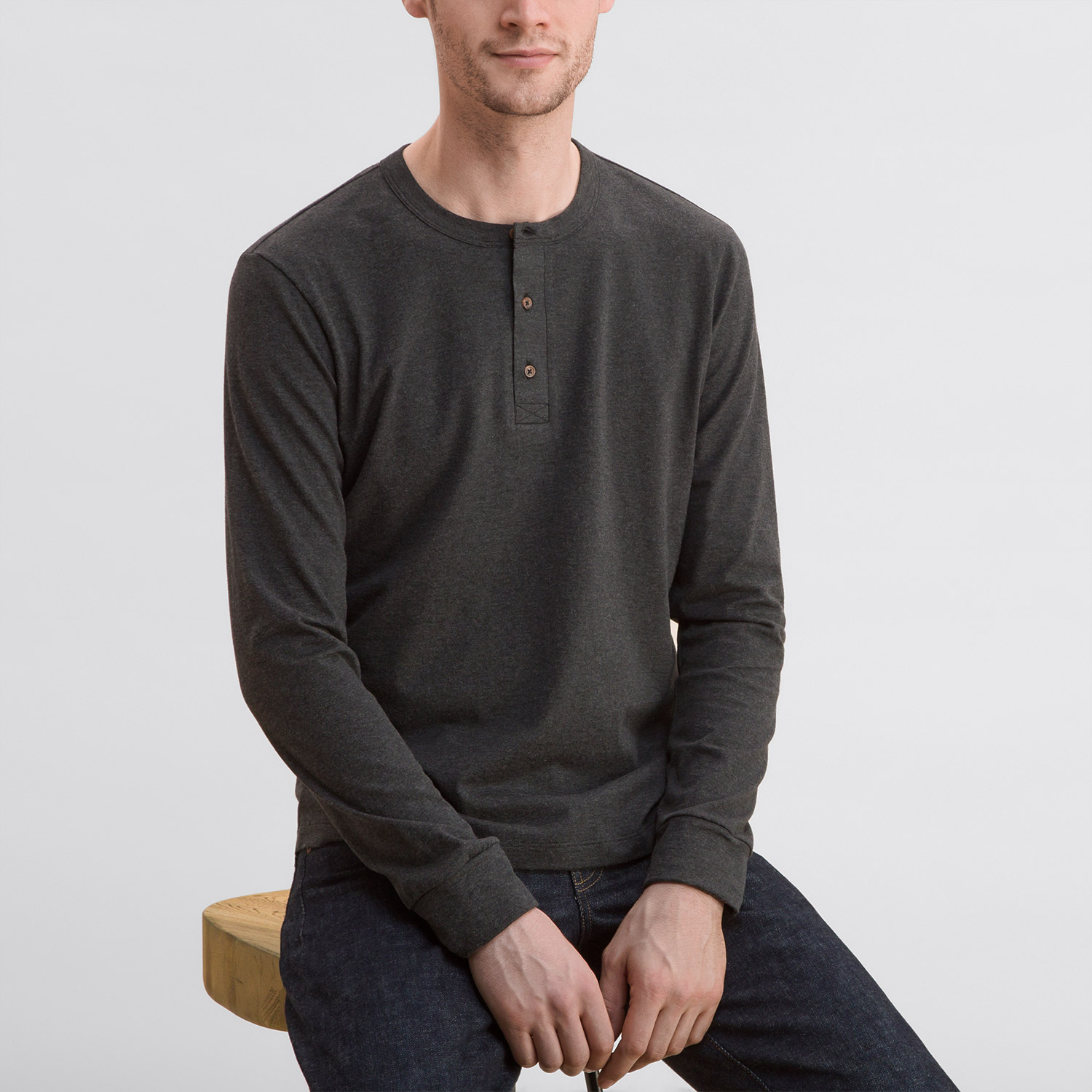 Todd Shelton Long Sleeve Heather Henley