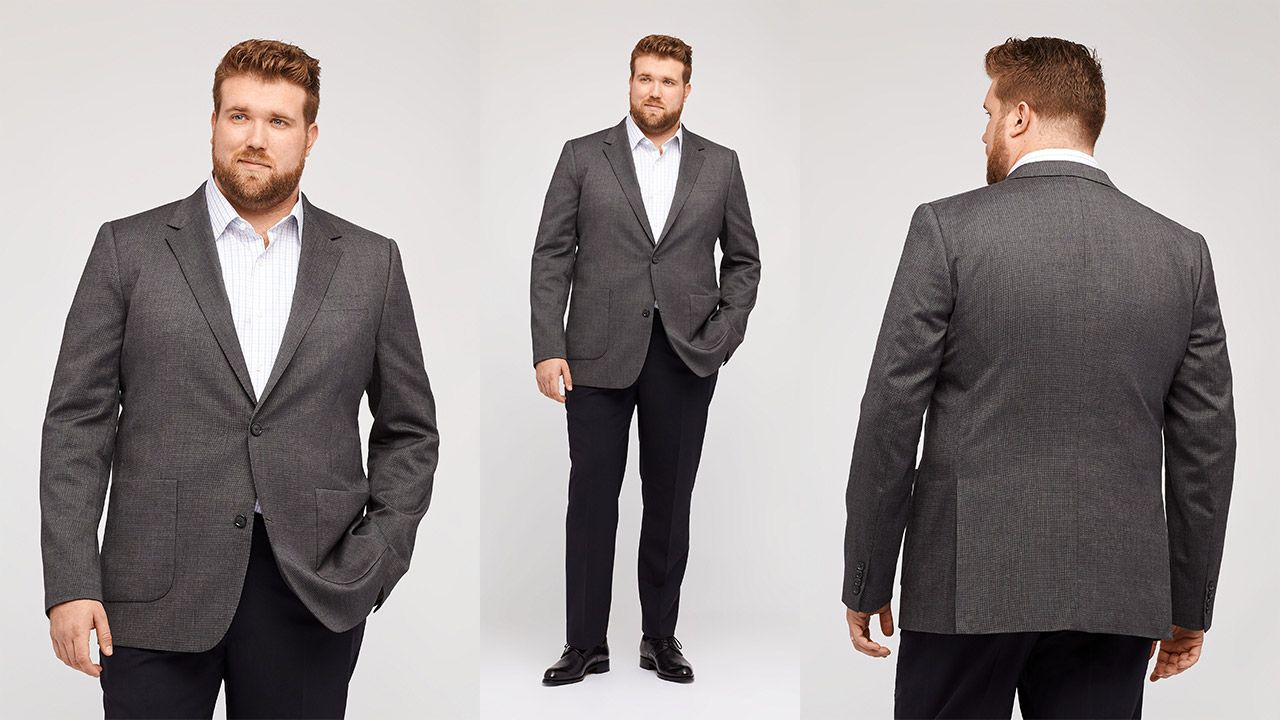 big guys: how structured clothing gives you shape