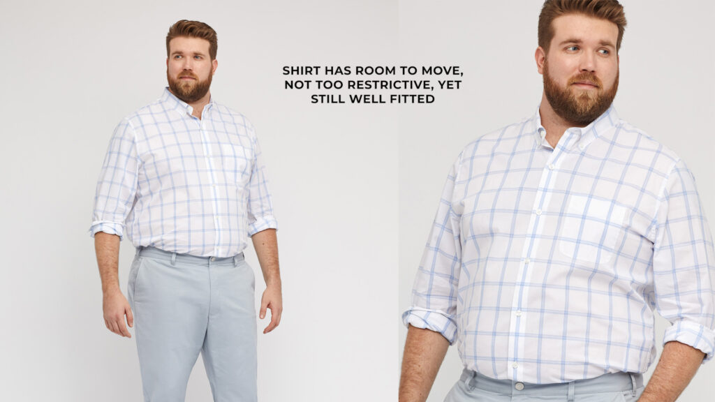 big guys: how a shirt should fit