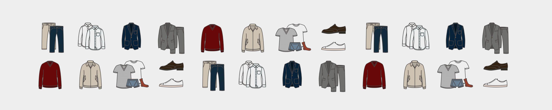 illustration of men's clothing