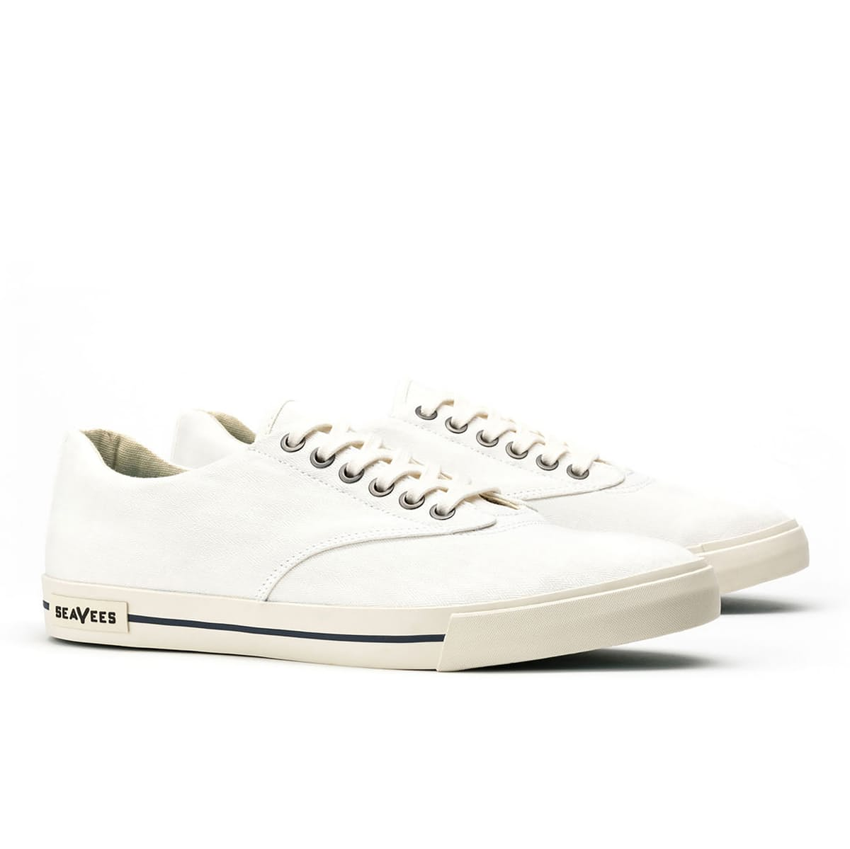 Classic White Sneakers - SeaVees Hermosa Plimsoll