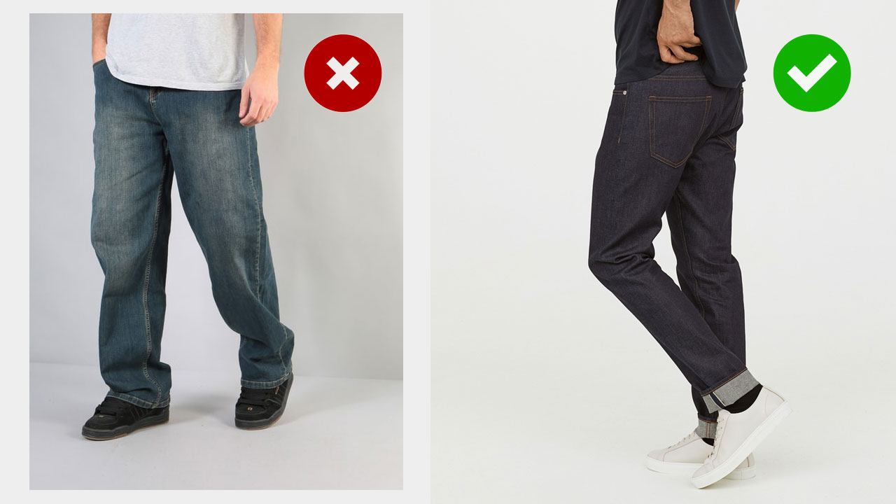 teenage style upgrade -- wearing dark denim instead of faded, baggy jeans