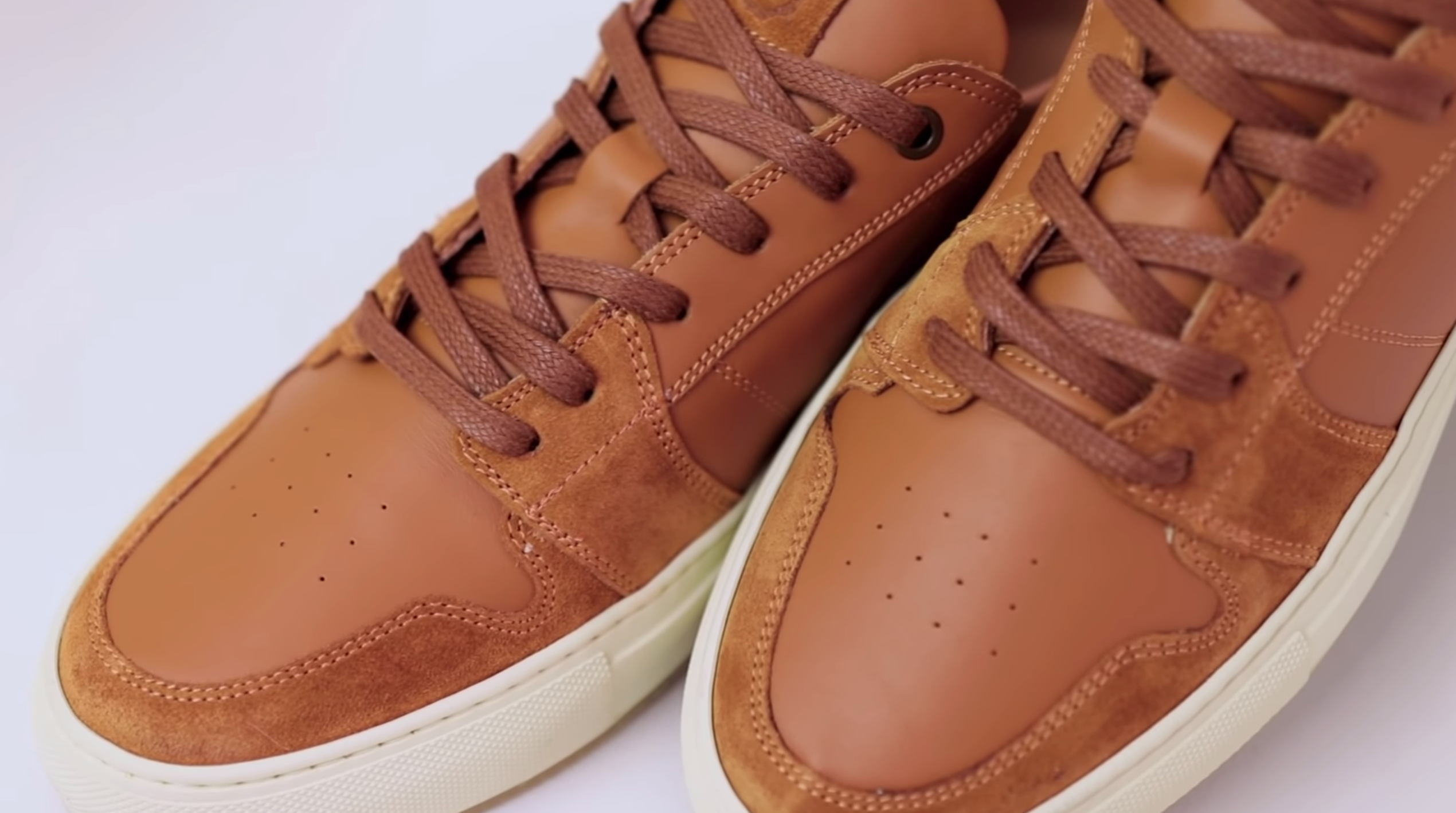 Greats Court leather sneakers in tan