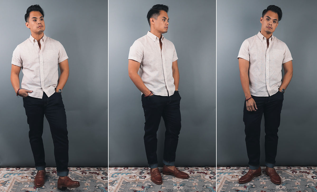 how a short sleeve shirt should fit men