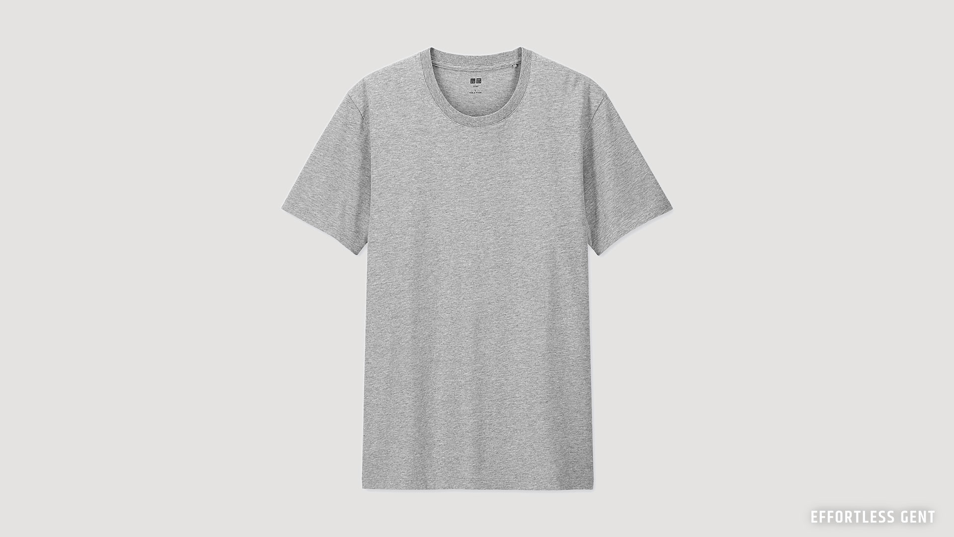 the perfect gray t-shirt for a budget minimal lean wardrobe