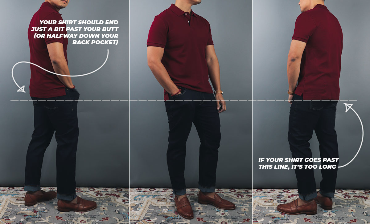 the best length for a man's polo shirt