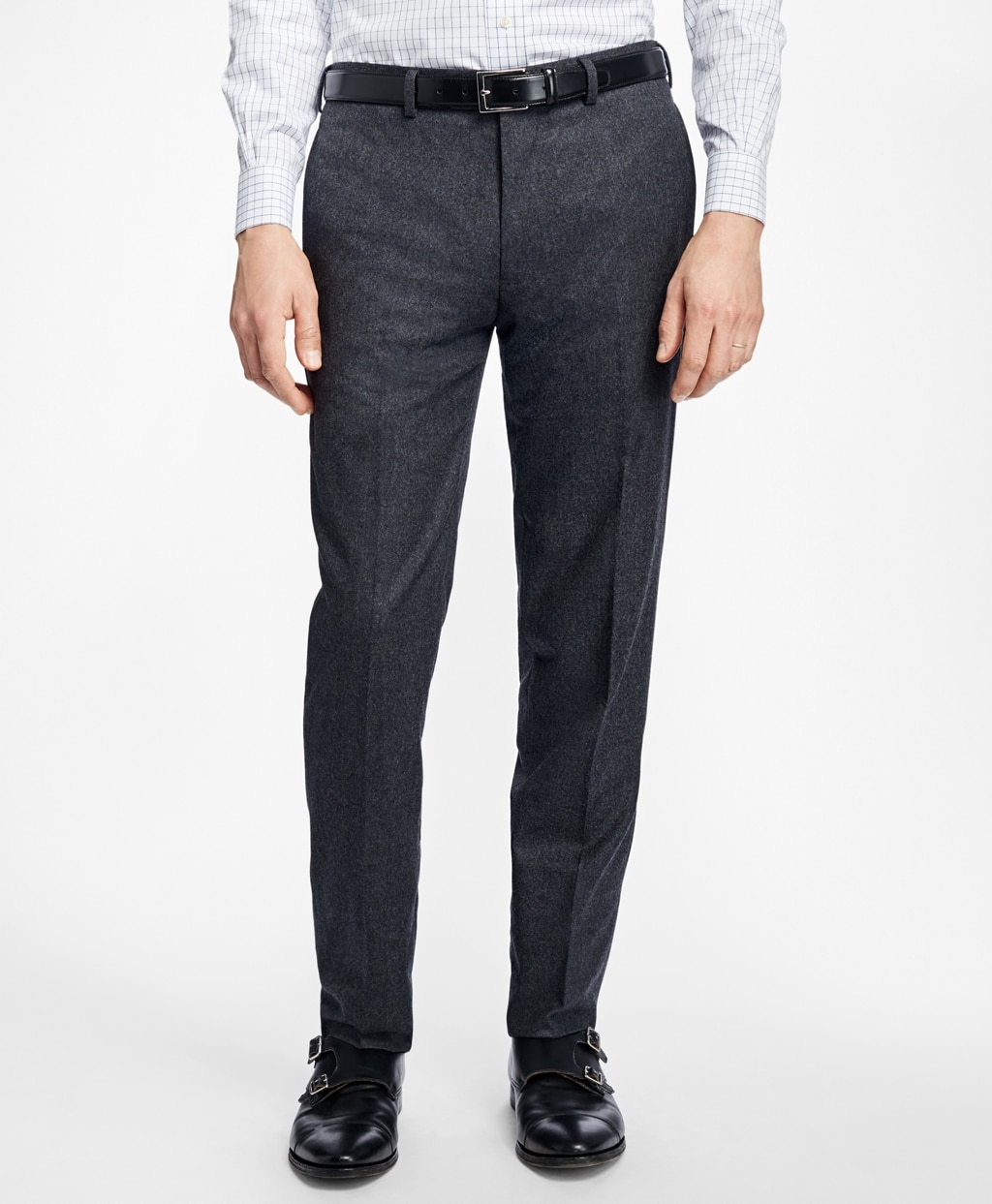 Brooks Brothers Milano Fit Flannel Trousers