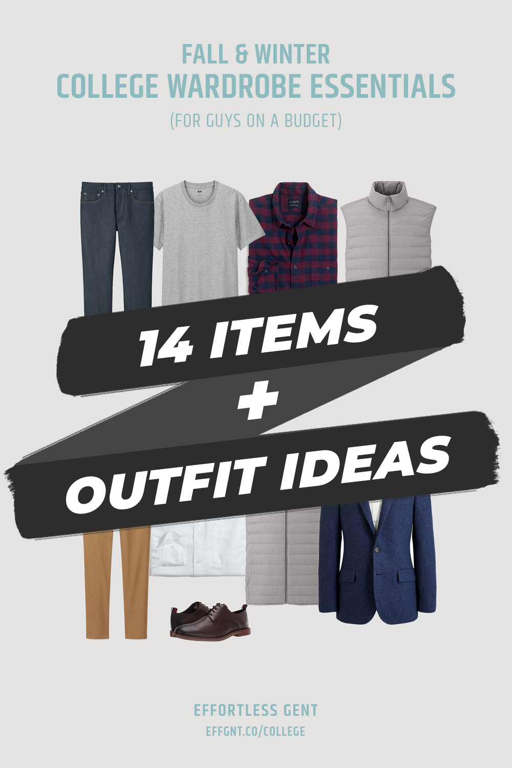 Teaser image for college wardrobe essentials infographic