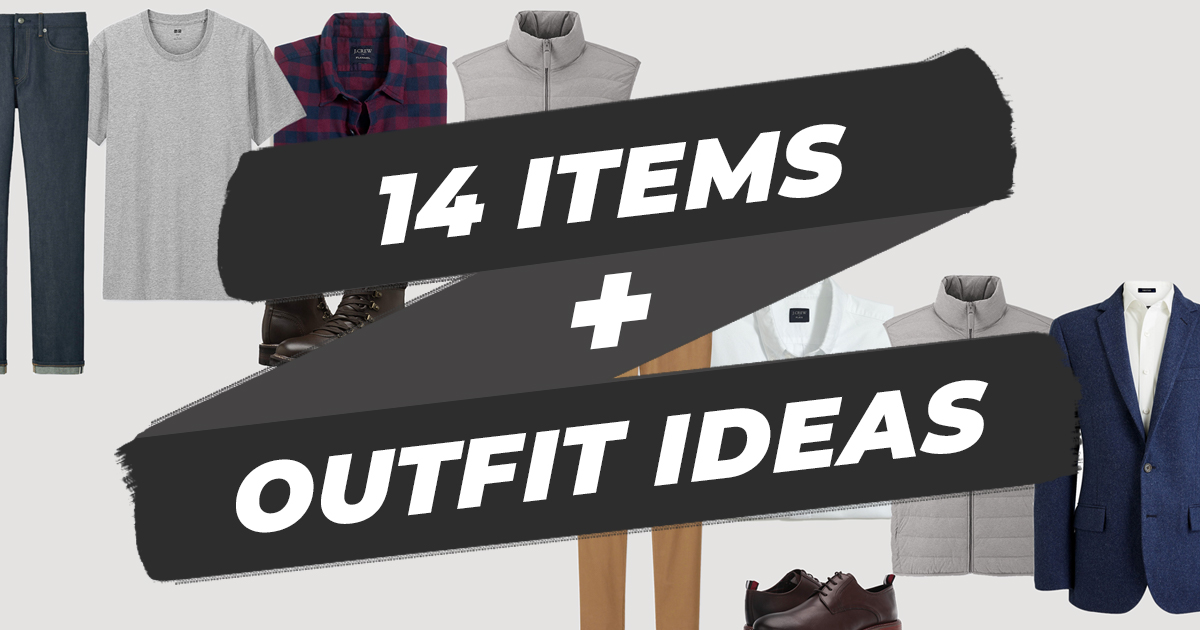 14 items and outfit ideas for a college wardrobe