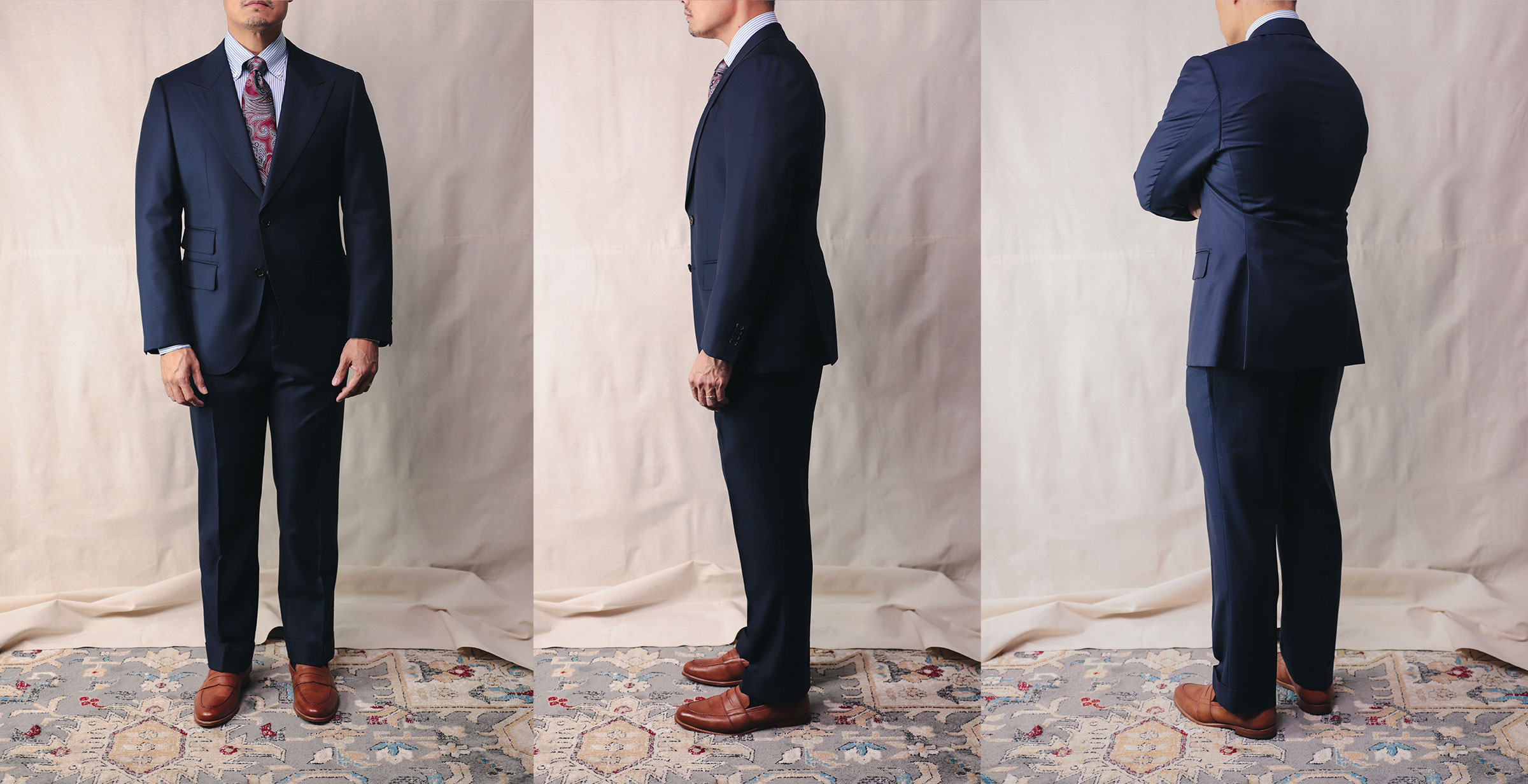 Spier & Mackay Suit full body shot front side and back