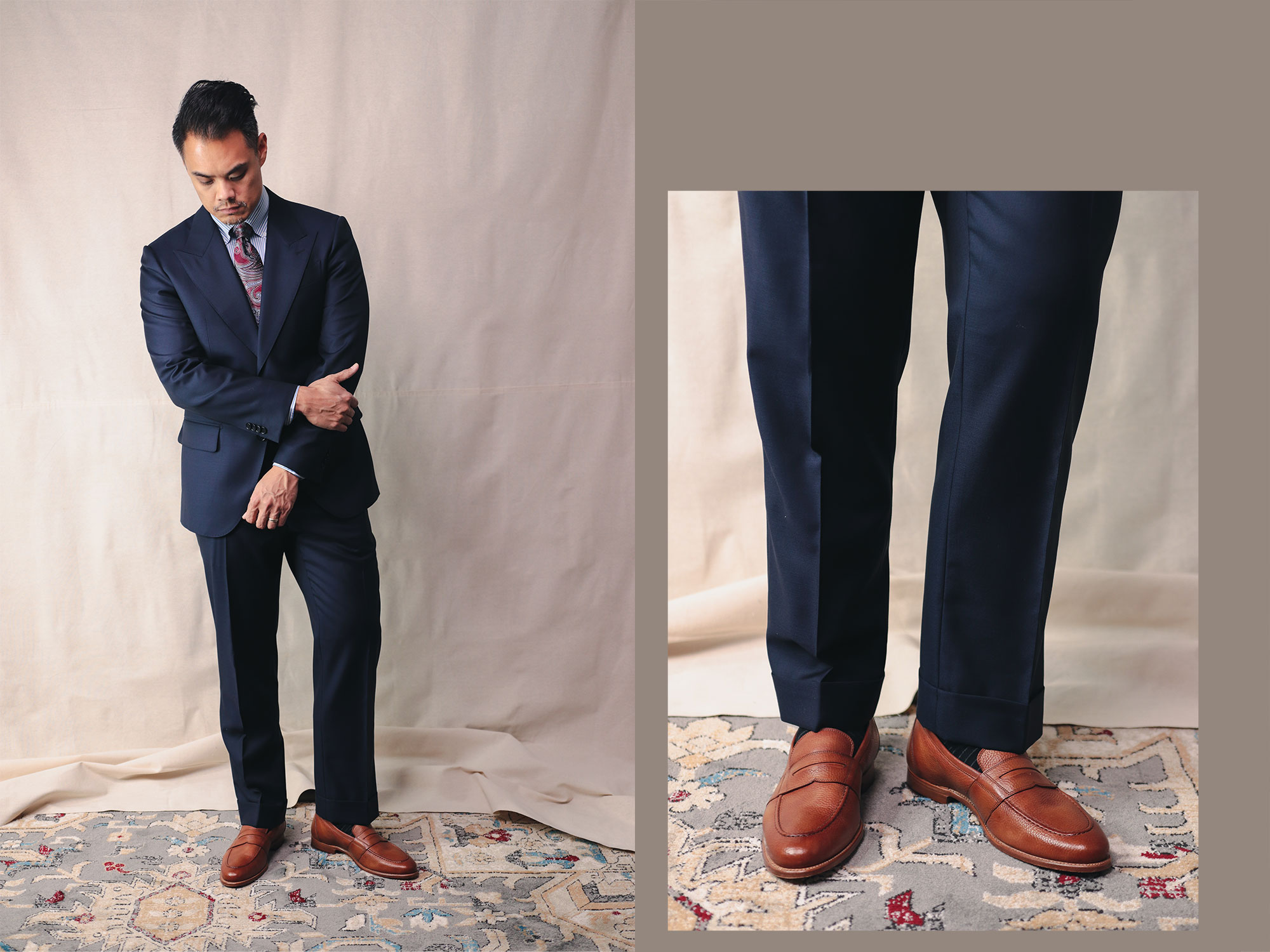 Spier & Mackay Guabello Fabric Full Body View and Trousers Detail