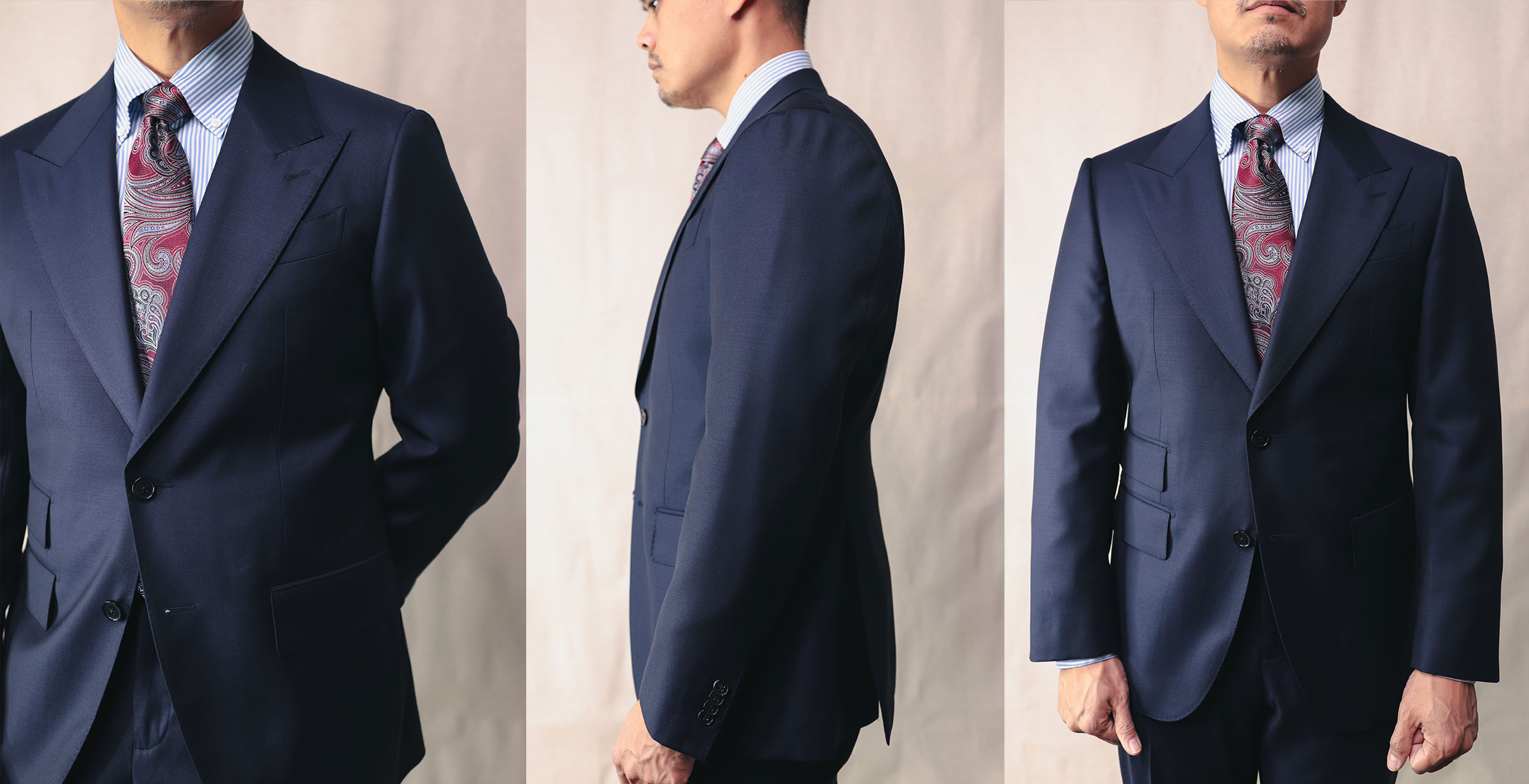 Closeup of Spier & Mackay Guabello Suit Front And Side
