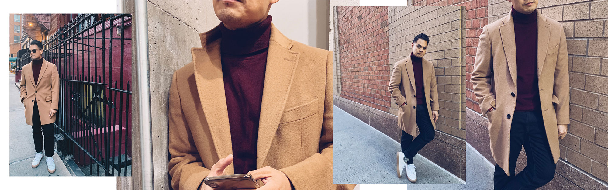 spier & mackay wool cashmere overcoat in camel